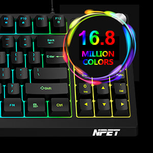 16.8 Million Colors Keyboard