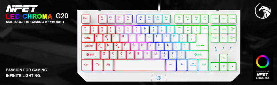 g20 white keyboard