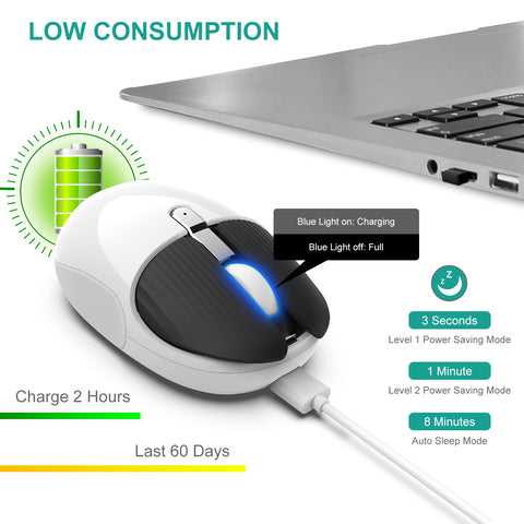 Rechargeable mouse white