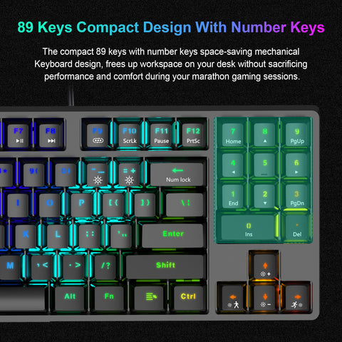 keyboard 89 keys