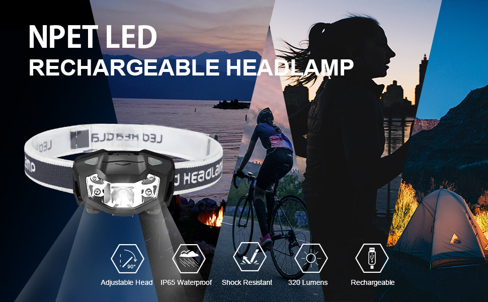npet rechargeable headlamp