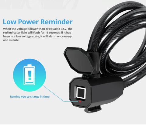 low voltage reminds in your finger print lock