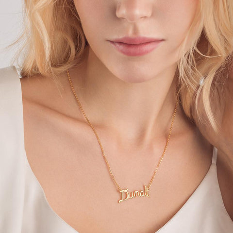 Sparkle Letter Pendant Necklace
