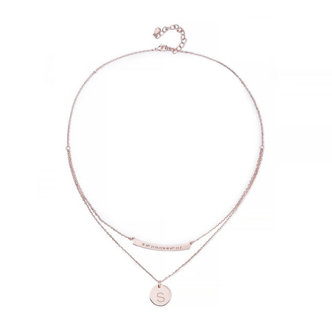 Double Layer Round Long Necklace