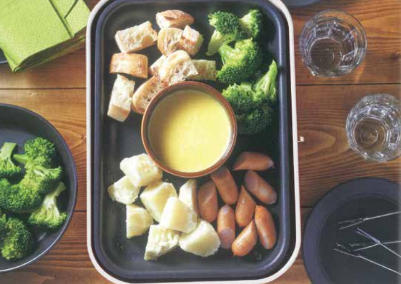 Cheese Fondue Food Party 3 in 1 Electric Skillet, Saucepan, and Steamer