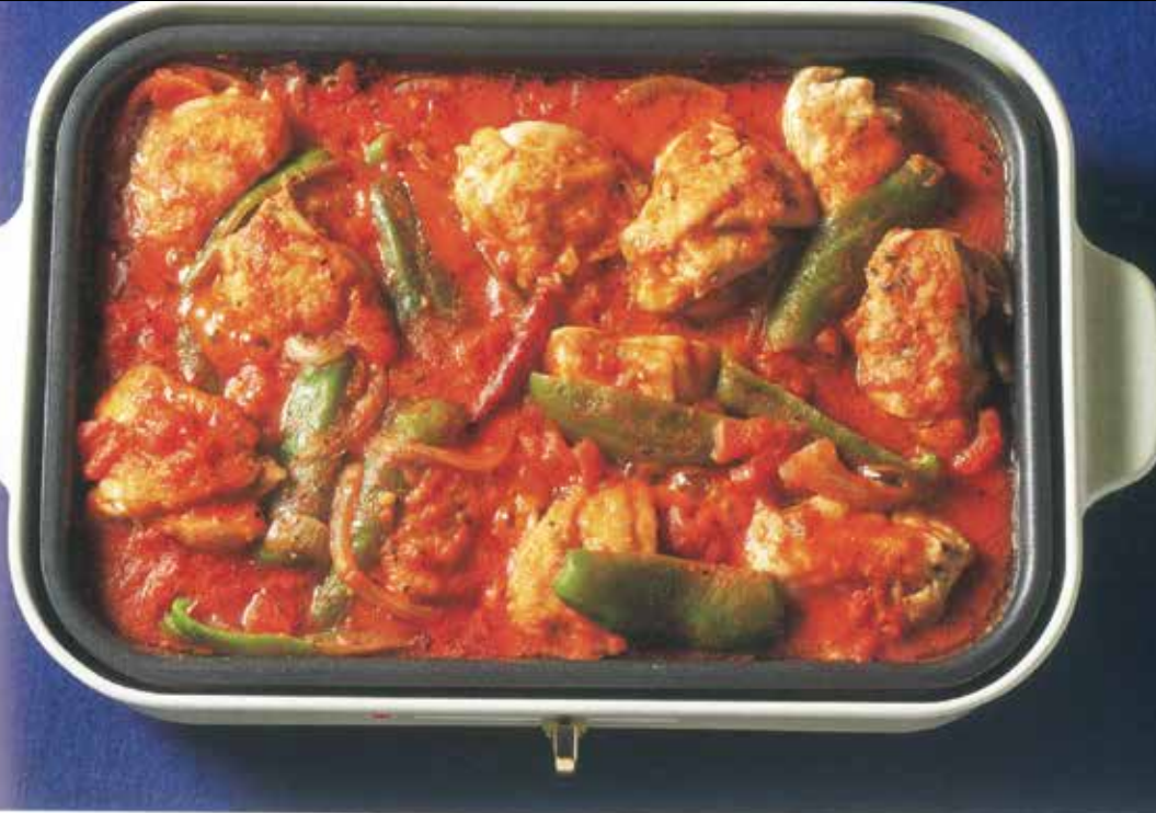 Italian Tomato Chicken Stew Food Party 3 in 1 Electric Skillet, Saucepan, and Steamer