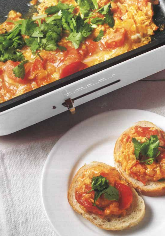 Moroccan Style Egg Toast Food Party 3 in 1 Electric  Skillet, Saucepan, and Steamer