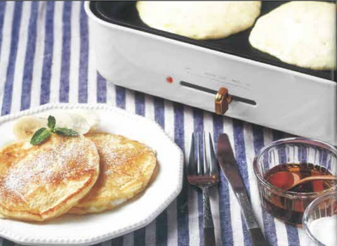 Ricotta Cheese Pancakes Food Party 3 in 1 Electric  Skillet, Saucepan, and Steamer