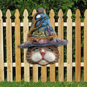 Cat Mask Wooden Door Hanger
