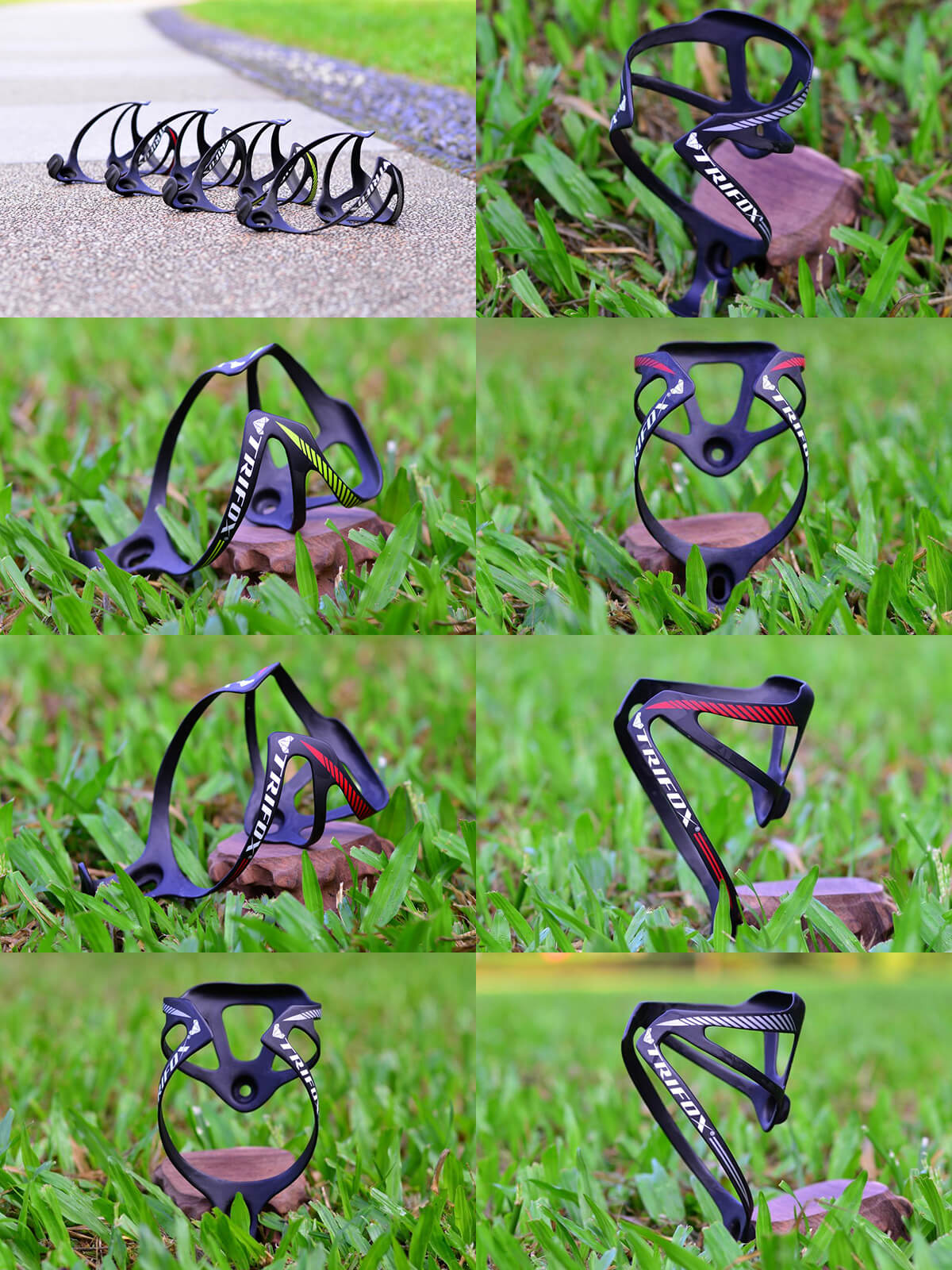 Trifox Bike Carbon Fiber Water bottle Cage CBC200 Thin Version Real Shot