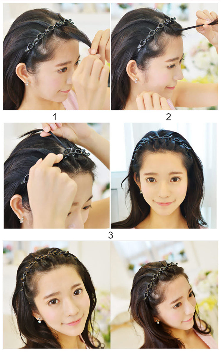 Double Bangs Hairstyle Hairpin - Brighthis