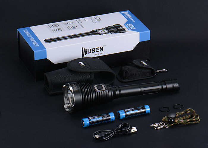 WUBEN T101Pro Flashlight 3500 Lumens Super Bright 500 Meters Beam Type-C Rechargeable Waterproof  Searching Torch