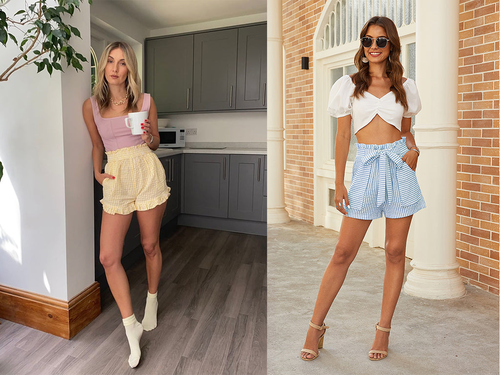 women summer Paperbag shorts