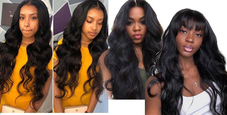 long body wave hair bundles with closure