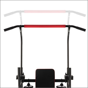 Chin-up station adjustable top bar
