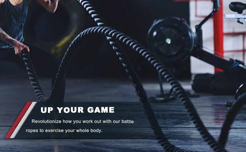 Battle Ropes with Anchor Strap Kit