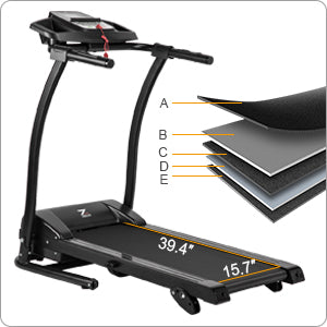 Folding Treadmill Shock-Absorption Running Surface