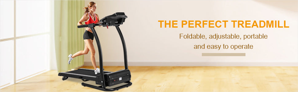 Perfect 1100W Folding Treadmill