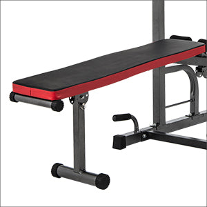 Space-Saving Power Tower Cushioned Sit-Up Bench