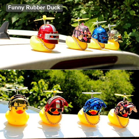 Wearing Helmet Small Yellow Duck For Car/Bicycle Decoration