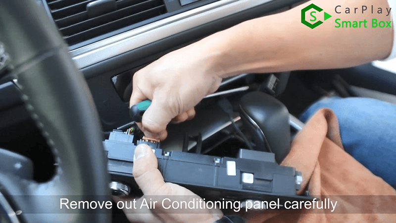1.Remove out air conditioning panel carefully.