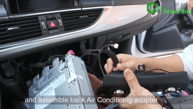 10.And assemble back air conditioning adapter.