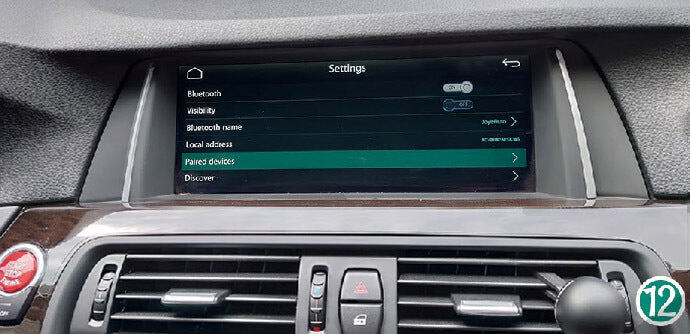 "Click ""Paired device"" at Bluetooth (Visibility will turn off after paired). How To Connect Wireless CarPlay After Install CarPlay Smart Box?"