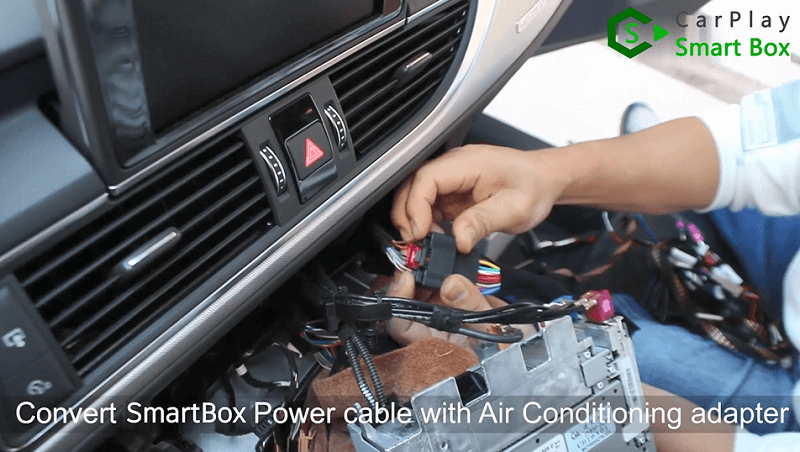 6.Convert Smart Box power cable with air conditioning adapter.