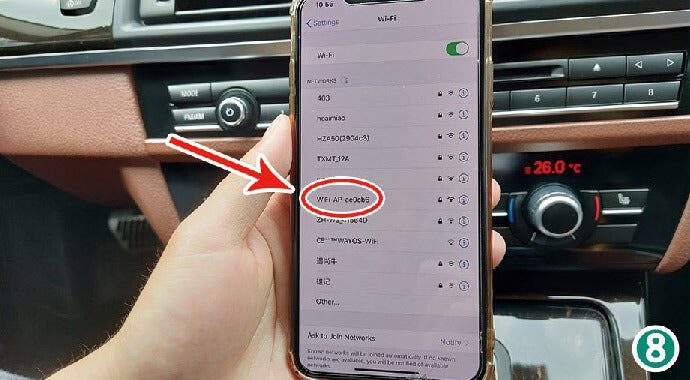 "Turn ""ON"" of the wifi. How To Connect Wireless CarPlay After Install CarPlay Smart Box?"