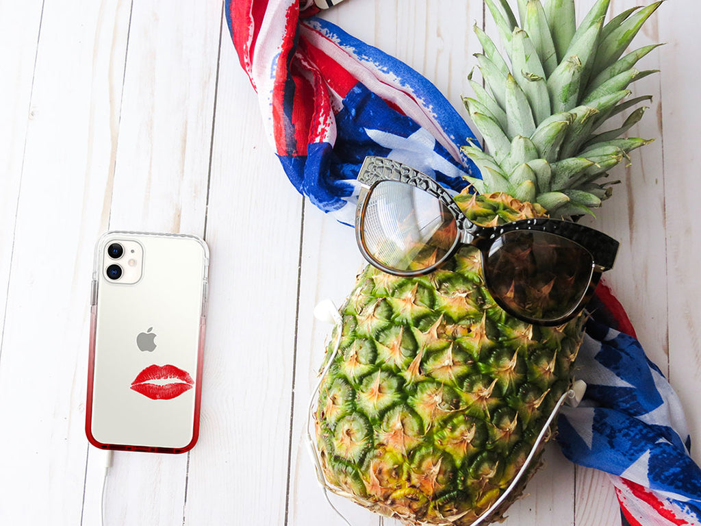 red fun iphone case - red lips kiss - 11 pro - HIMODA