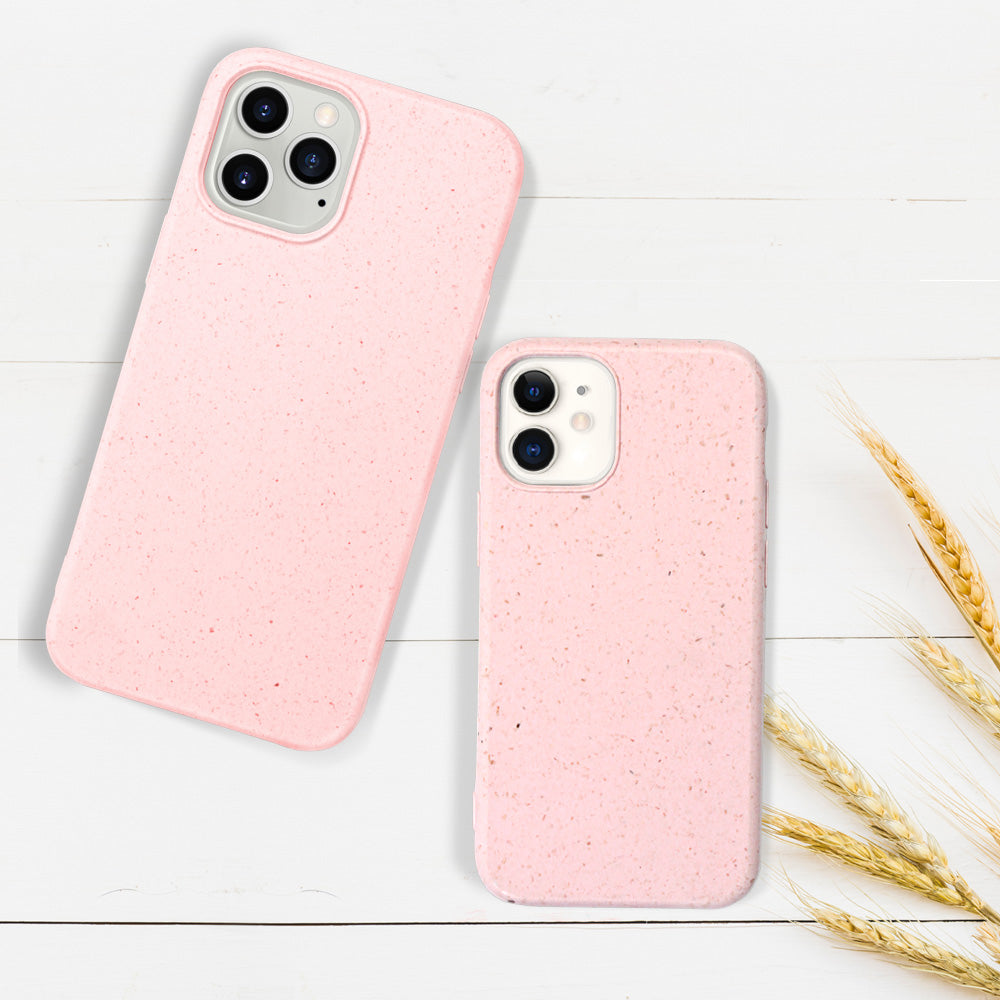 eco friendly compostable iphone 12 pro max case - HIMODA biodegradable - pastel pink