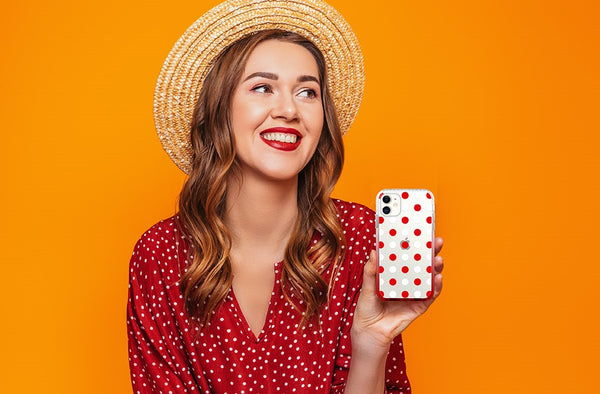 red polka dots iphone 11 pro max case - HIMODA