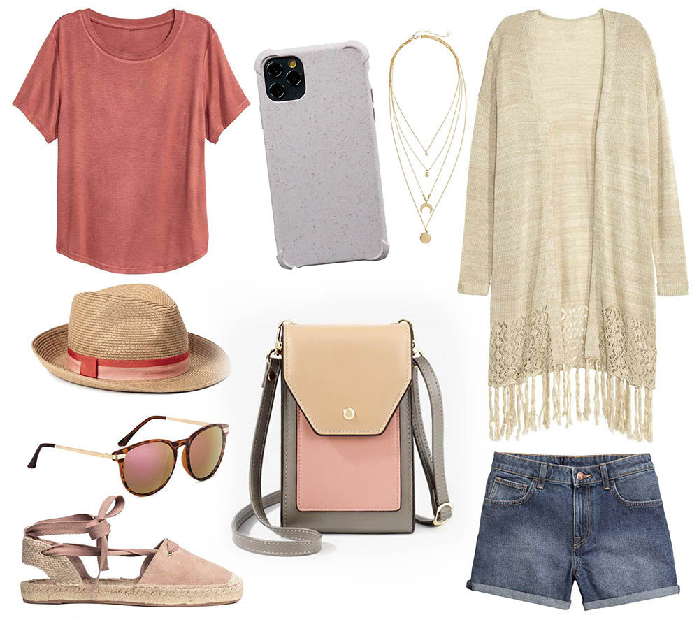 himoda styling idea- beige compostable iphone case-ultra impact - pink