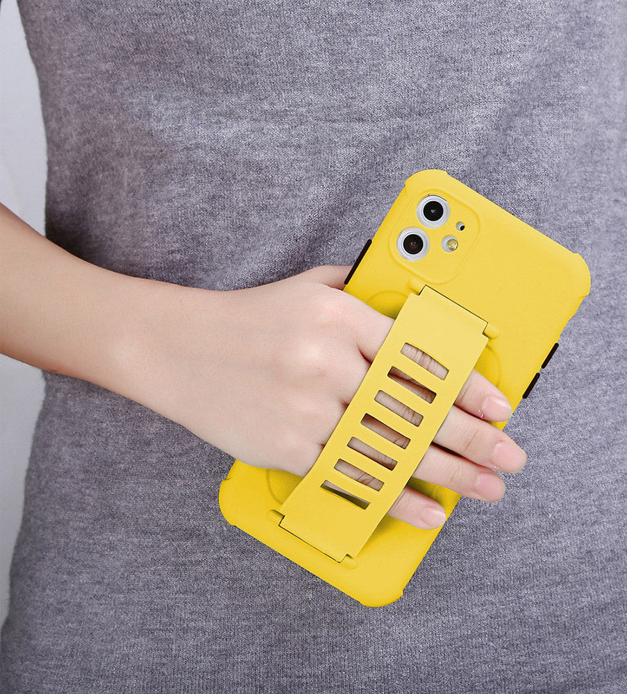 casual fashion iphone 12 pro max case in mustard yellow color - himoda
