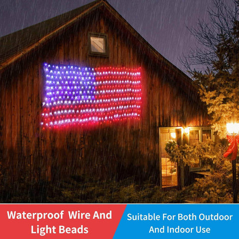 American FLAG LED STRING Outdoor Lamp