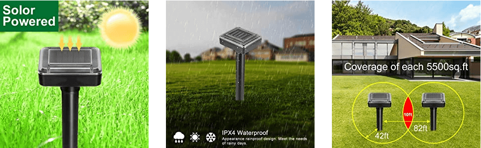 Solar Powered Ultrasonic Gopher/Rodent/Vole Repellent