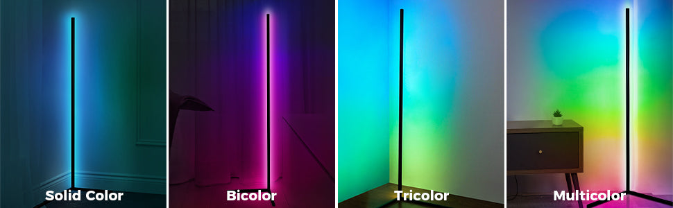 color changeable standing lamp