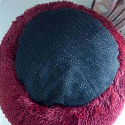 Luxury Dog Bed Deep Sleep Donut Puppy Cat Faux Fur Cuddler Pet Bed