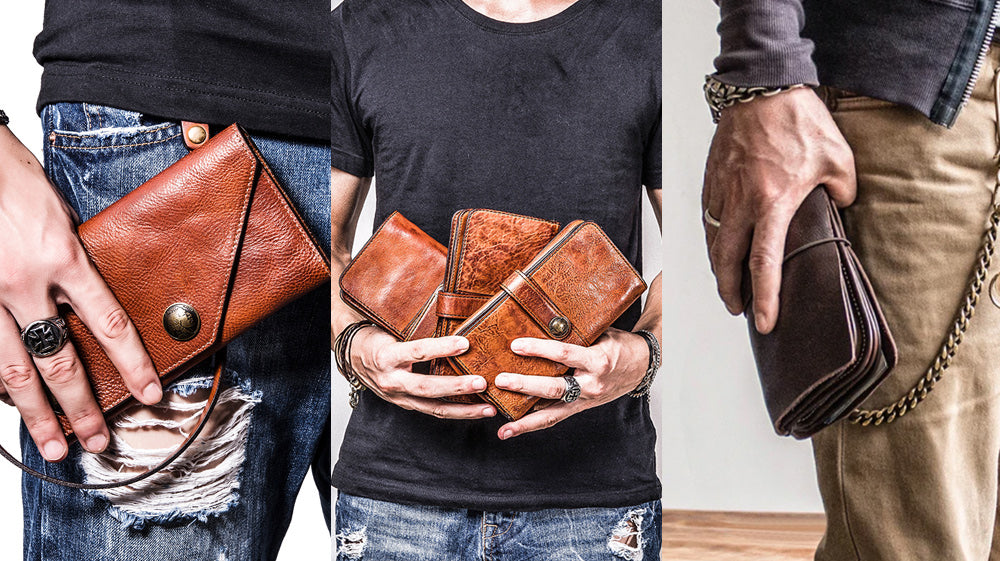 Cool Leather Long wallets for men