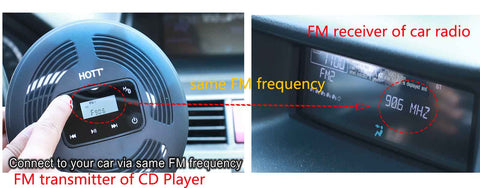 Portable CD Player with FM transmitter