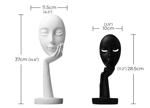 Woman Face Mask Craft Statue Home Decoration Table Decorative Accessory