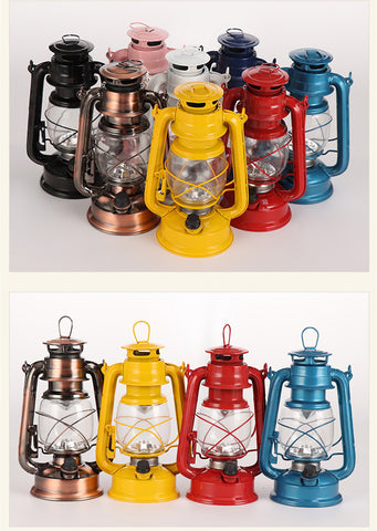 Battery operated classic antique  oil portable handled  camping lantern