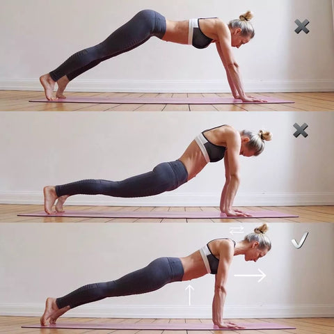 correct plank pose demonstration