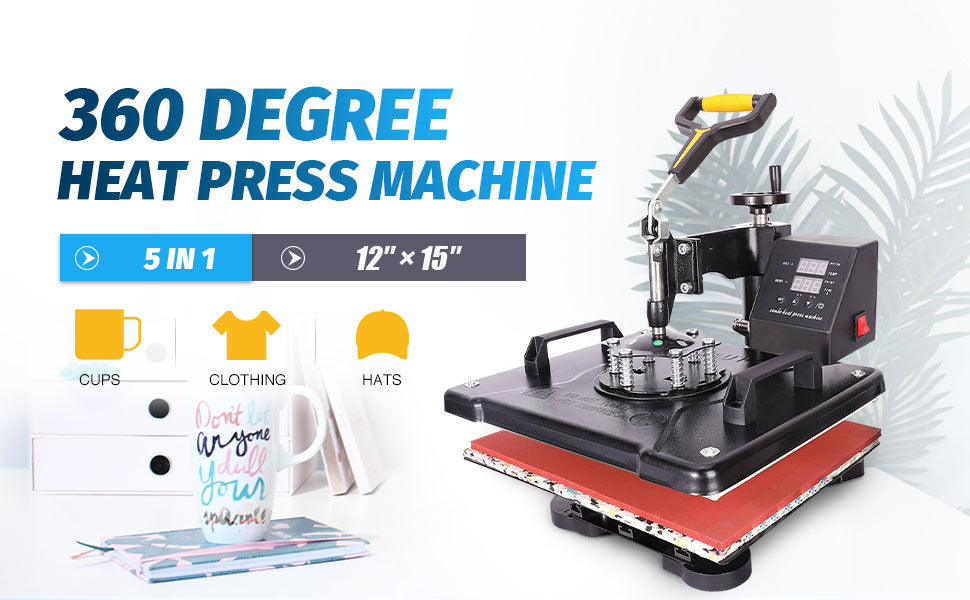 360 Degree Heat Press Machine