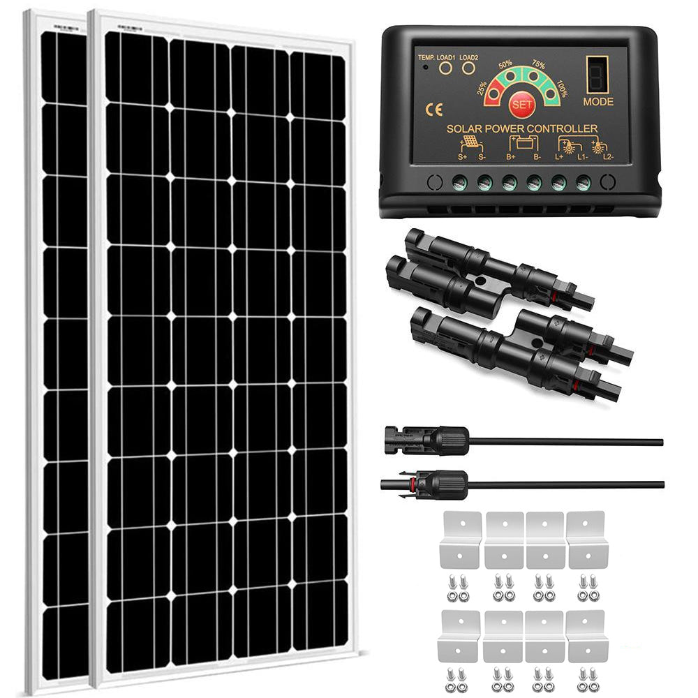 200W Monocrystalline Solar Panel Kit