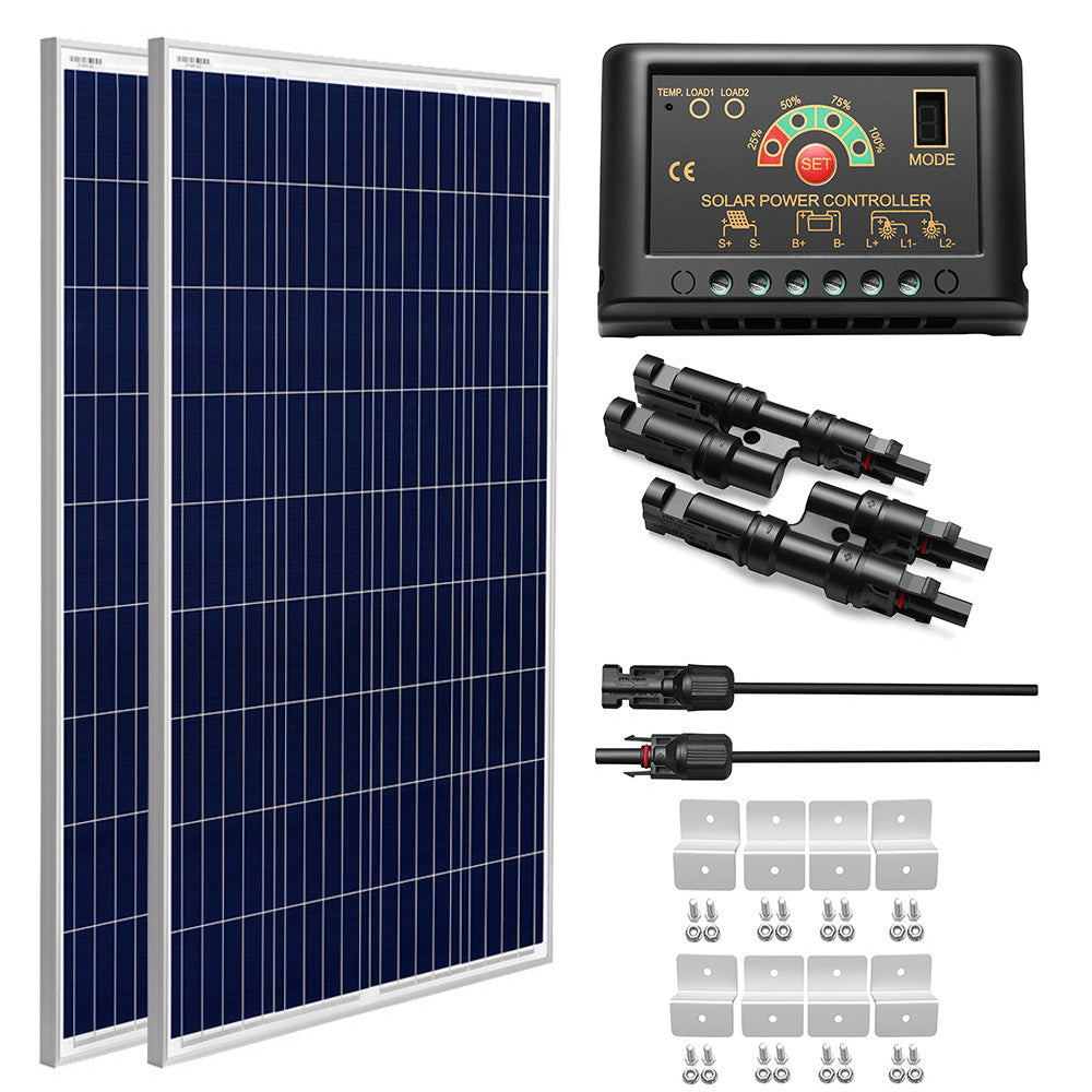 200W Polycrystalline Solar Panel Kit