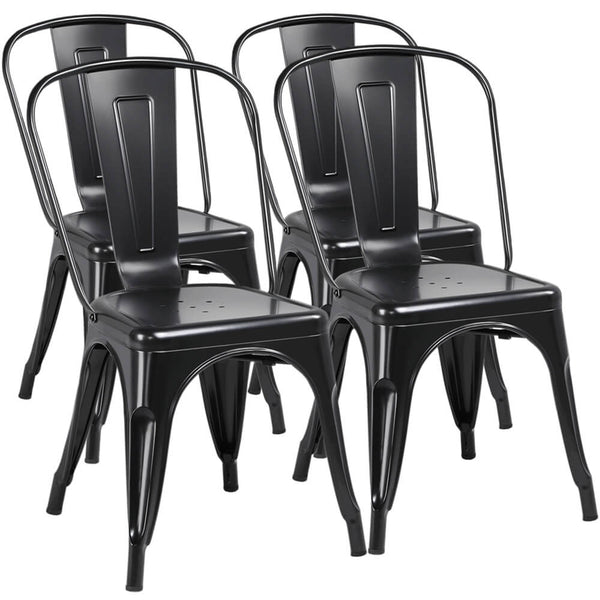Yaheetech Iron Metal Dining Chairs