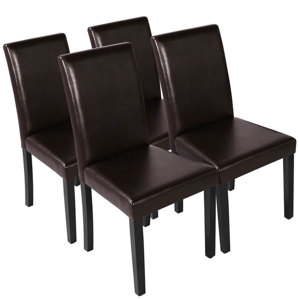 Yaheetech 4pcs Faux Leather Dining Chair