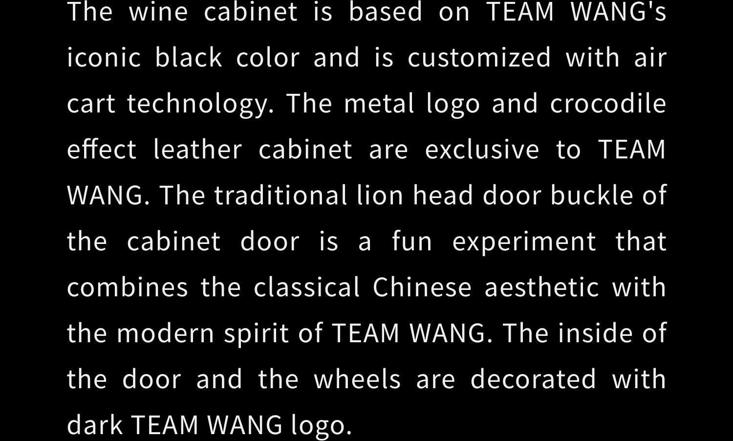 TEAM WANG THE CART