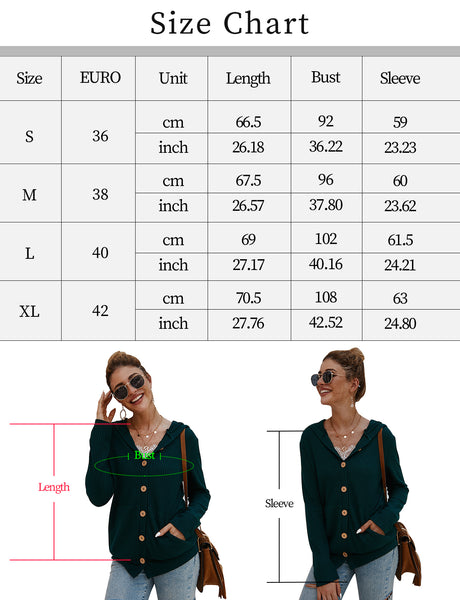 Size Chart Knit Coat Womens Long Sleeve Open Front Waffle Knit Sweater Cardigans Coat Outwear with Pockets | Gardenwed